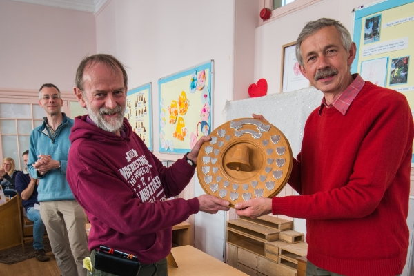 Stephen Elwell-Sutton receives the Inveraray Shield for Dundee