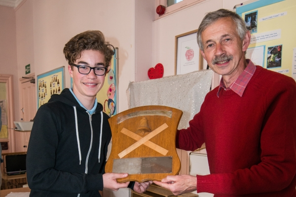 Thomas receives the St Andrews shield for Glasgow